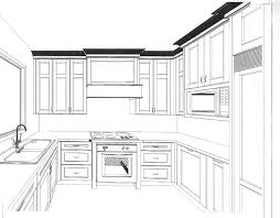 Kitchen Design Drawings Draw Kitchen Cabinets Drawing Images Cabinet Design Your Own