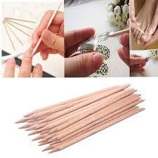20pcs nail art orange wood stick cuticle pusher remover pedicure
