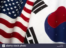 International Bunting Flags Flags Of United States Of America And South Korea Flags Made Of