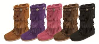 s boots with fringe minnetonka children s 3 layer fringe boots