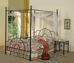 Black Canopy Bed Frame Black Metal Sunburst Canopy Bed Size Bed Frame