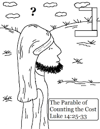 the parable of counting the cost coloring pages
