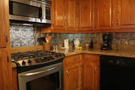 kitchen metal backsplash brown metal modern kitchen backsplash tile tin kitchen backsplash