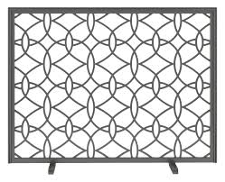 decora circa fireplace screen traditional transitional mid