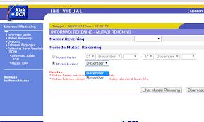 Klikbca Individual Cara Mencetak Rekening Koran Dari Aplikasi Klikbca