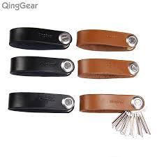 aliexpress key rings images 6pcs lot qinggear lkey leather car key holder edc door key clip jpg