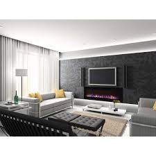 regal flame 50 inch fusion crystal recessed touch screen multi