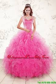 quinceanera dresses with straps 2015 pretty straps hot pink quinceanera dresses with beading 171 92
