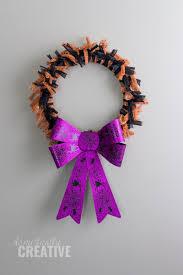 halloween fabric scrap wreath domestically creative