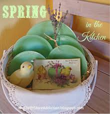 my thrift store addiction spring in the kitchen happy green easter vintage jadeite collection