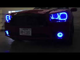 halo lights for 2013 dodge charger oracle colorshift halo headlight kit on 2011 14 dodge charger