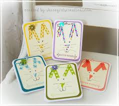 shoregirl u0027s creations washi tape bunny cards