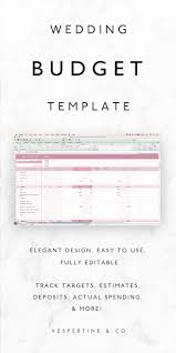 wedding planner budget template best 10 wedding budget worksheet ideas on pinterest wedding wedding budget tracker template excel spreadsheet plus budget checklist fully editable instant download wedding planning template