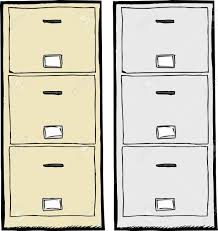 Metal Filing Cabinet Front View Of Isolated Metal Filing Cabinets Royalty Free Cliparts