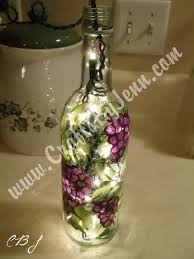 Wine Bottles With Lights Learn The Basic Tips And Tricks On How To Paint Glass