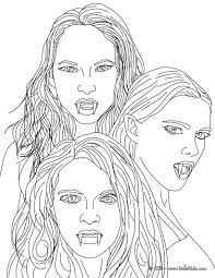 kleurplaat the 3 empusa mythical vampires coloring page