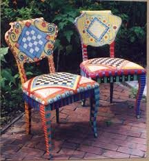 Painted Chairs Images 294 Best Painted Chair Designs Images On Pinterest Chairs