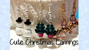 christmas earrings diy easy christmas earrings how to the corner of craft