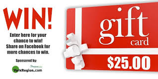 win gift cards contest enter for a chance to win a 25 gift card yorkregion