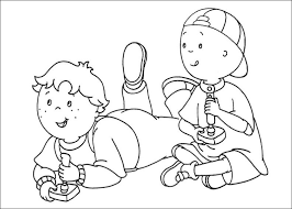caillou coloring pages chuckbutt