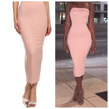 light pink bodycon dress skirts light blush pink bodycon skirt tube dress new poshmark