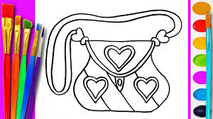 coloring pages for kids handbag coloring book for children to