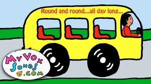 party bus clipart wheels on the bus nursery rhymes hd youtube