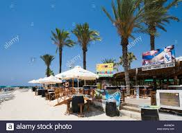 beach bar nissi beach ayia napa east coast cyprus stock photo