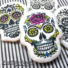 halloween cake stencils sugar skull mesh stencil set