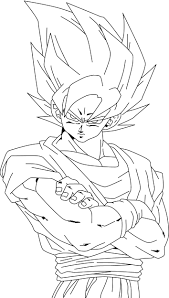 ball coloring pages goku super saiyan 3