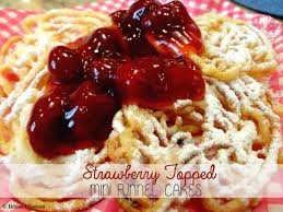 recipe strawberry topped mini funnel cakes the whimsical whims