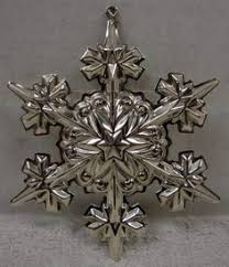 gorham sterling silver annual snowflake christmas ornament 1974