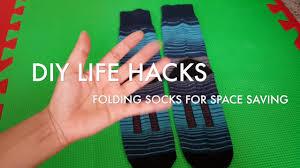 folding socks diy life hack storage organization for family
