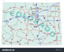 Usa Highway Map Colorado State On Usa Map Colorado Flag And Map Us States Card No