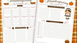 thanksgiving meal planner templates happy thanksgiving