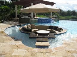 Pool Ideas Pinterest by Geometric Pool Custom In Pool Seating Area Pool Builders Inc