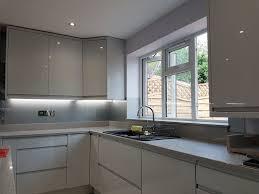 light grey acrylic kitchen cabinets picture splashbacks