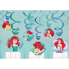 Hanging Party Decorations Disney Ariel Hanging Party Swirl Decorations The Little Mermaid 12
