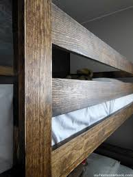 Wood For Building Bunk Beds by Building A Bunk Bed Our Home Notebook