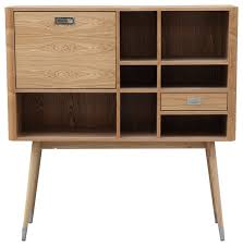 Credenzas And Buffets Ebb Modern Wood Upright Credenza Midcentury Sideboard Buffet
