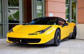 ferrari yellow ferrari 458 italia yellow ferrari italy view tuning black roof