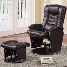 Chair W Ottoman Coaster Recliners With Ottomans Casual Glider Recliner Chair With
