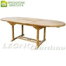 tavolo ovale legno tavolo ovale allungabile da giardino in legno teak 170 230