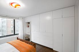 custom builtin wall units in white full image for bright built in