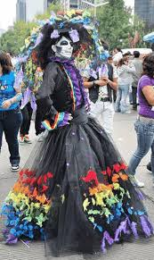 catrina costume parrot time celebrations day of the dead