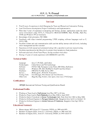 Manual Testing 1 Year Experience Resume Sample Resume For Experienced Software Tester Free Resume