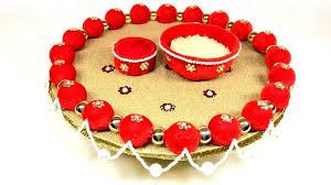 diy decorative wedding tray plate ganesha chaturthi pooja thali diy decorative wedding tray plate ganesha chaturthi pooja thali wedding decoration ideas