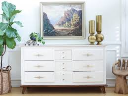 white lacquer buffet cabinet mid century modern white lacquer vintage dresser with wooden feet