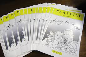playbill wedding program this and that creations a year of wedding bliss our 2012 wedding