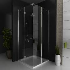 hsr02 90055 pivot shower enclosure double door corner entry